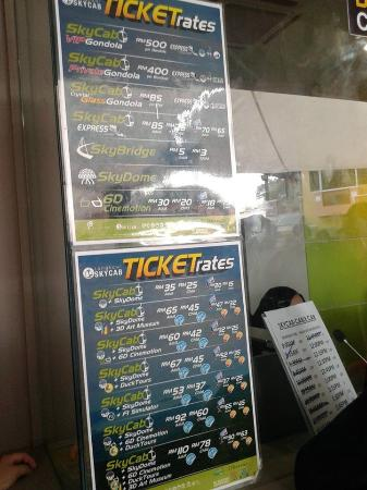Jadual Harga Tiket Dewasa Naik Carble Car Picture Of Langkawi