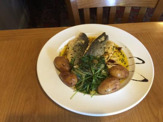 The Buck Inn: Pan Fried Sea Bass Fillet