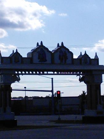 Pewaukee, WI: The entrance to the Temple.