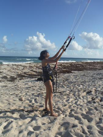 Silver Sands, Barbados: First day of kite flying