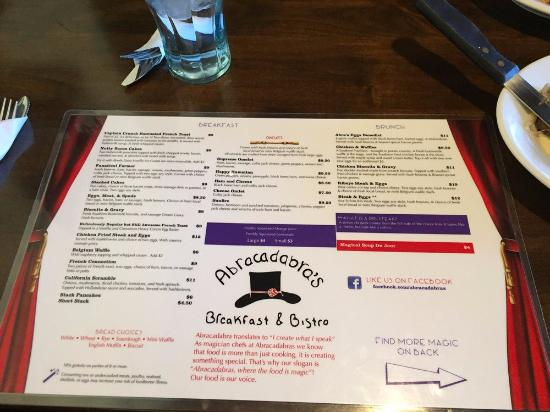Idaho Falls, ID: Breakfast Menu