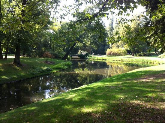 Parque Lazienki: Прудик
