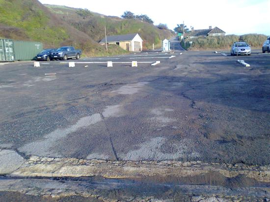 Braunton, UK: View from the other side of the car park at Saunton