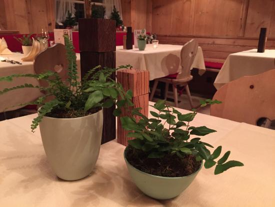 Gasthaus & Hotel Berninahaus: Stilvolle und sich zurücknehmende Tischdekoration