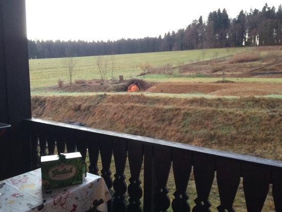 Freyung, Deutschland: Uitzicht van balkon