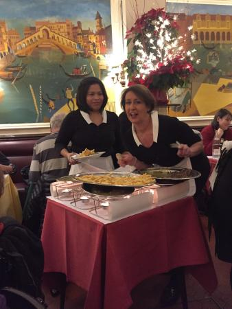 Le Relais de Venise: Our L'Entrecote servers hamming it up