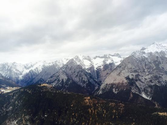 Interalpen-Hotel Tyrol: the view from our room