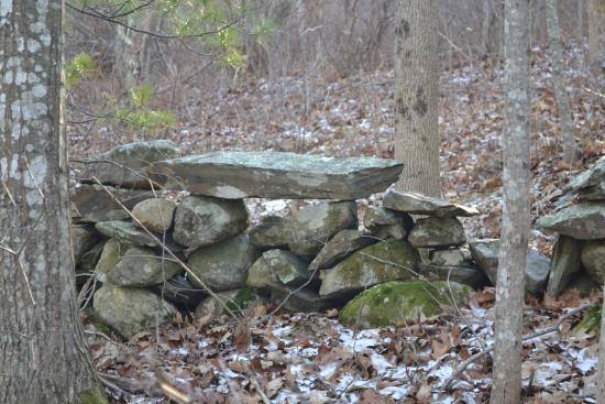 Rockport, ME: Rock wall at beech hill