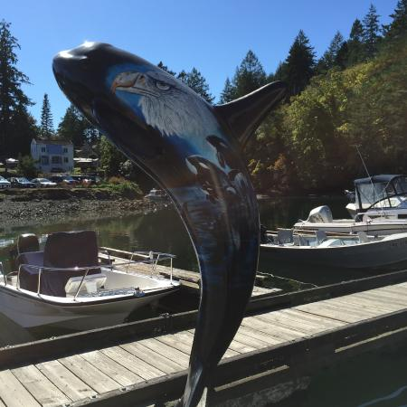Beautiful Millenium Orca along the dock by Genoa Bay Cafe  |  5000 Genoa Bay Rd, Duncan, British