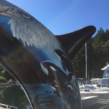 ‪‪Duncan‬, كندا: Beautiful Millenium Orca along the dock by Genoa Bay Cafe  |  5000 Genoa Bay Rd, Duncan, British‬