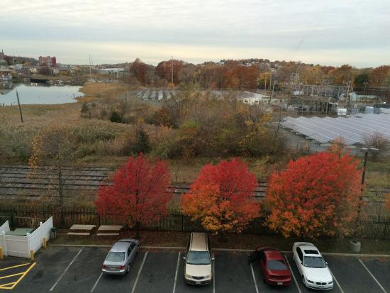 Hampton Inn Boston-Logan Airport: View out back from top floor room