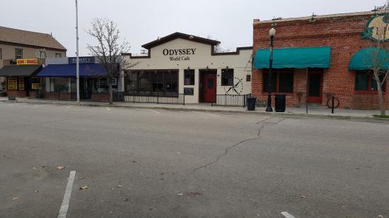 Odyssey World Cafe: The Cafe entrance