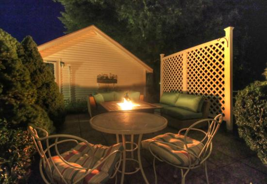 Rowley, MA: Fire Pit Lounge on a Summer night.