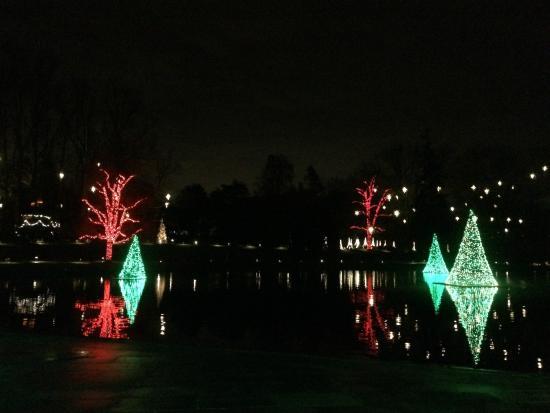 longwood gardens christmas floating trees 2015 - Longwood Gardens Christmas Lights