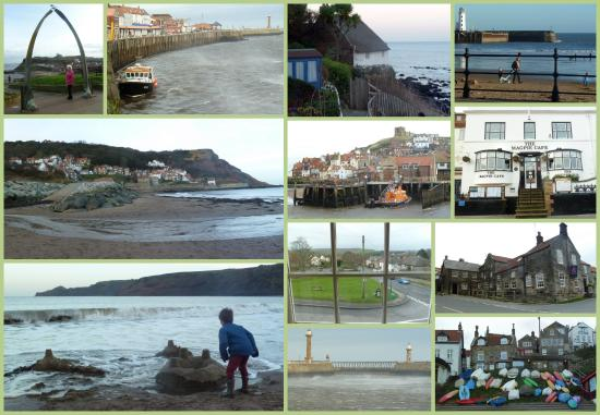 Danby, UK: A collage including the Duke of Wellington, Runswick Bay & Whitby
