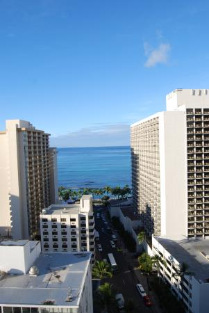 Hyatt Place Waikiki Beach: View from room on top floor
