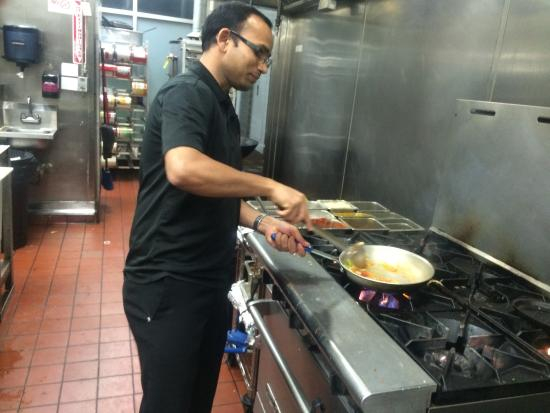 Artesia, CA: Dinesh is cooking