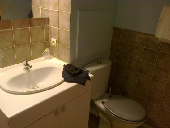 Lussac les Chateaux, فرنسا: Salle de bain (avec douche)