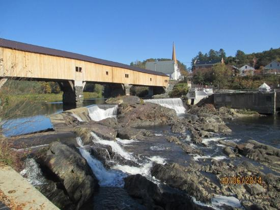 Woodsville, NH: Haverhill Bath Covered Bridge from ATV Trail