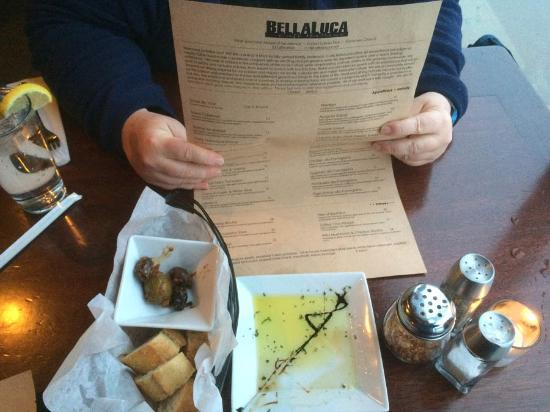 Cafe Bella Luca: Olive Oil and Crusty Bread