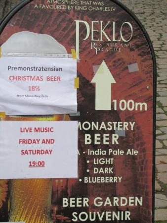 Christmas In Prague Book.The Christmas Beer Was Great Picture Of Restaurant Peklo