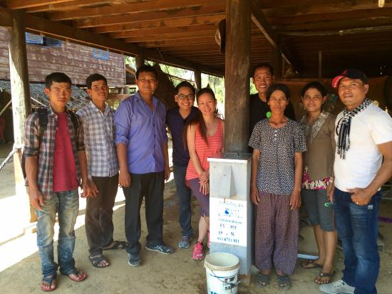 Angkor Palace Resort & Spa: The team: Mr Horm Honn, Mr Bo, with us after the final water filter installation