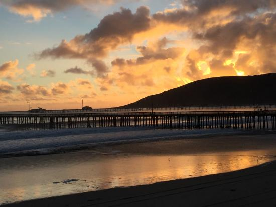 Avila Beach at sunset
