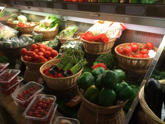 Harrods: These might be the only veggies I saw on my trip