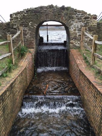 Frensham Little Pond: Sluice gate