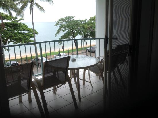 Beachfront Apartments on Trinity Beach: View from lounge - second floor unit