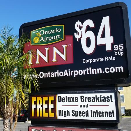 Ontario Airport Inn : $64.95 + tax Corporate Rate