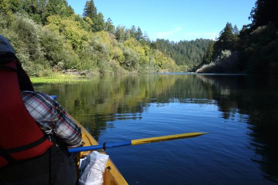 Monte Rio, Californië: Paddling down the Russian River