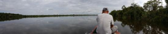 San Pedro Lodge E.I.R.L.: On way to the lodge in a boat from Iquitos