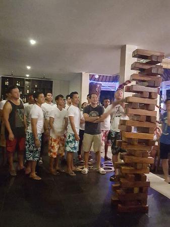 new year party - giant Jenga
