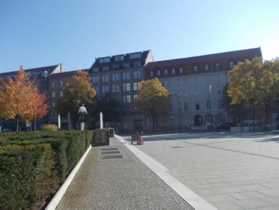 A view of Lebensquelle hotel from opposite side of Springer-Axel Strasse, Berlin
