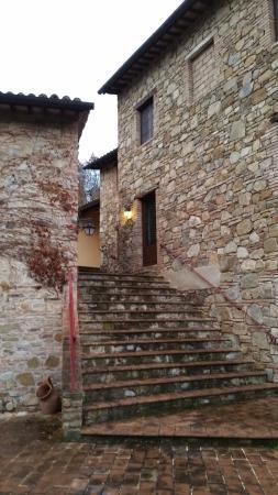 Tavernelle di Panicale, Włochy: Le scale di raccordo tra i due corpi centrali