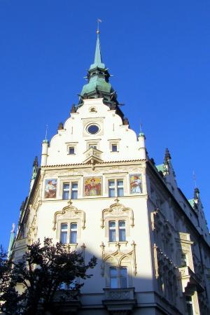 The Hotel Paris Prague facing the square