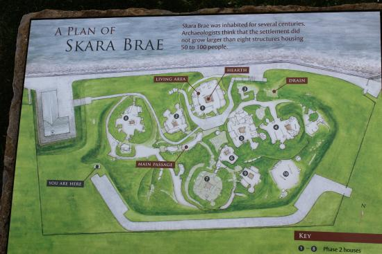 The Map of the Location - Picture of Skara Brae, Stromness ...
