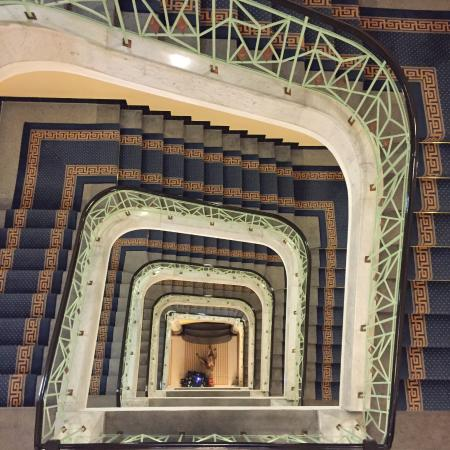 Art Deco Imperial: Staircase from top floor