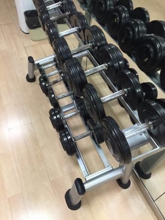 Ayre Hotel Caspe: Свободные веса - большой выбор