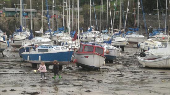Ilfracombe, UK: Ebbe im Hafenbecken lädt ein zum Spielen