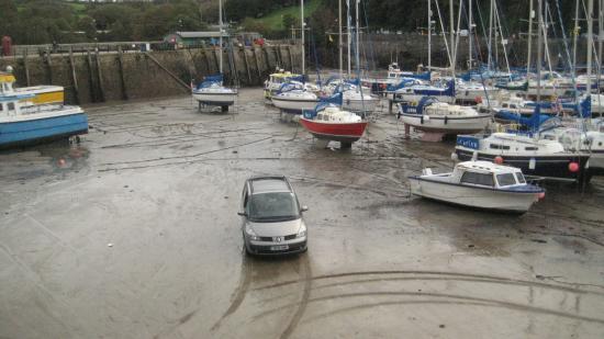 Ilfracombe, UK: Auch mit dem Auto kann man ins Hafenbecken