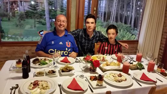 Il Belvedere: vista de fundo da mesa de refeição