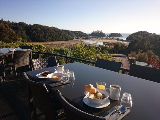 Kimi Ora Eco Resort: Un petit déjeuner au paradis