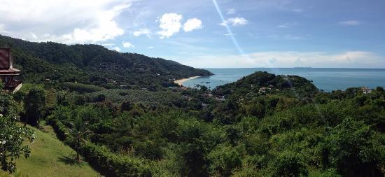Baan KanTiang See: view of kantiang bay from yellow villa