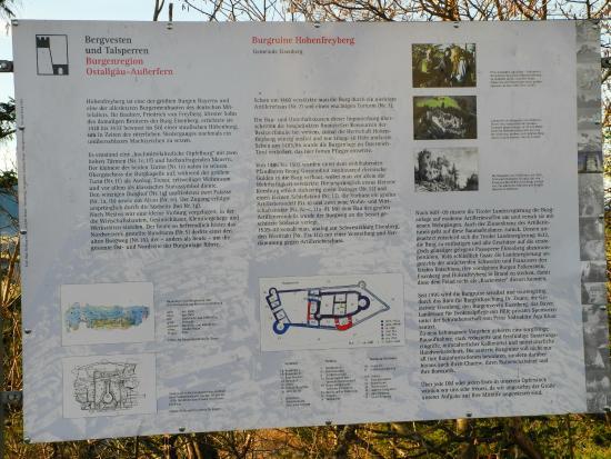 Eisenberg, Германия: Hinweistafel