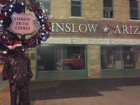 Quality Inn Winslow: Standing on the corner in Winslow Arizona Park