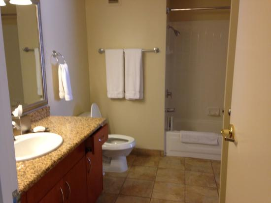 Bathroom picture of polo towers suites las vegas for Bathroom suites direct