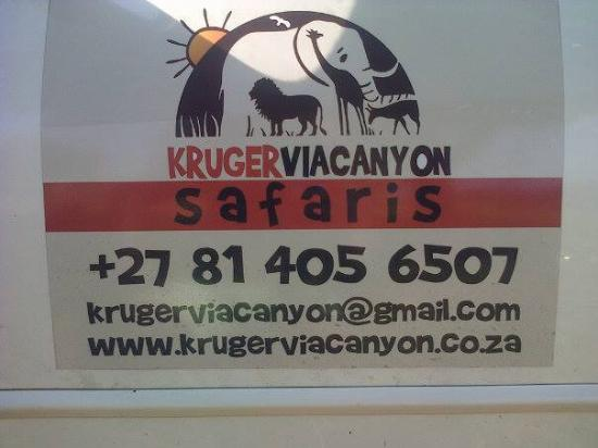 Kruger National Park: the safari company I used for the morning drive