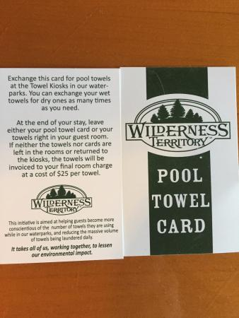 Wilderness Resort: Strange pool towel policy - understandable but a pain.